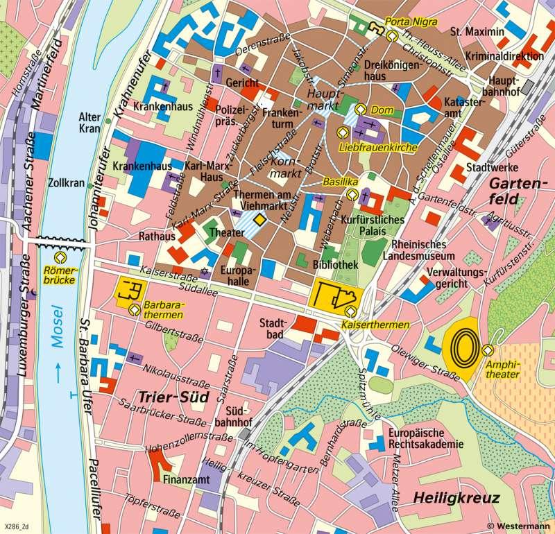 Trier | Heutige Stadt | Trier - Territorial- und Stadtentwicklung | Karte 27/8