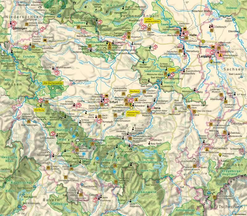 Thüringen   Tourismus   Thüringen - Tourismus   Karte 22/1
