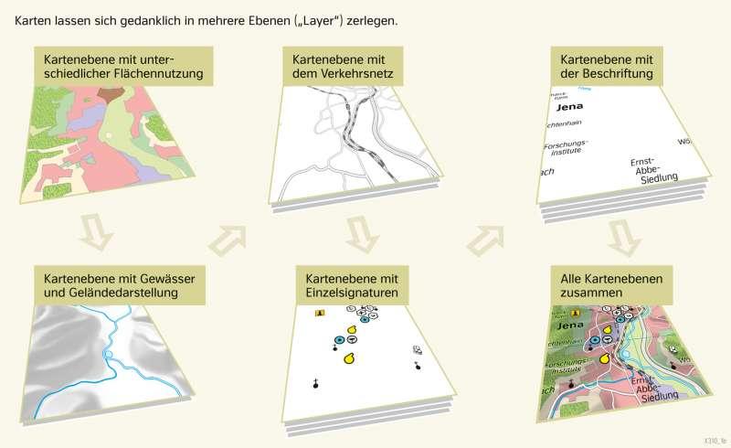   Kartenebenen   Thüringen - Eine Karte lesen und auswerten   Karte 11/3