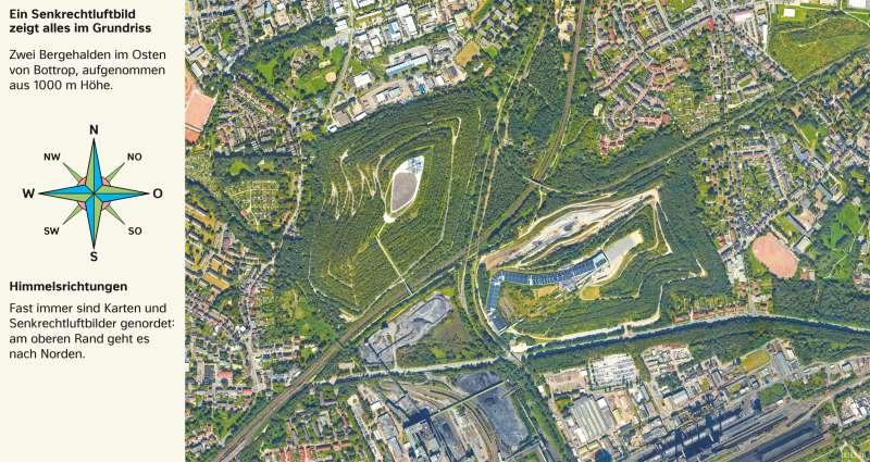 Bottrop | Rekultivierte Halden | Bottrop - Vom Bild zur Karte | Karte 6/1