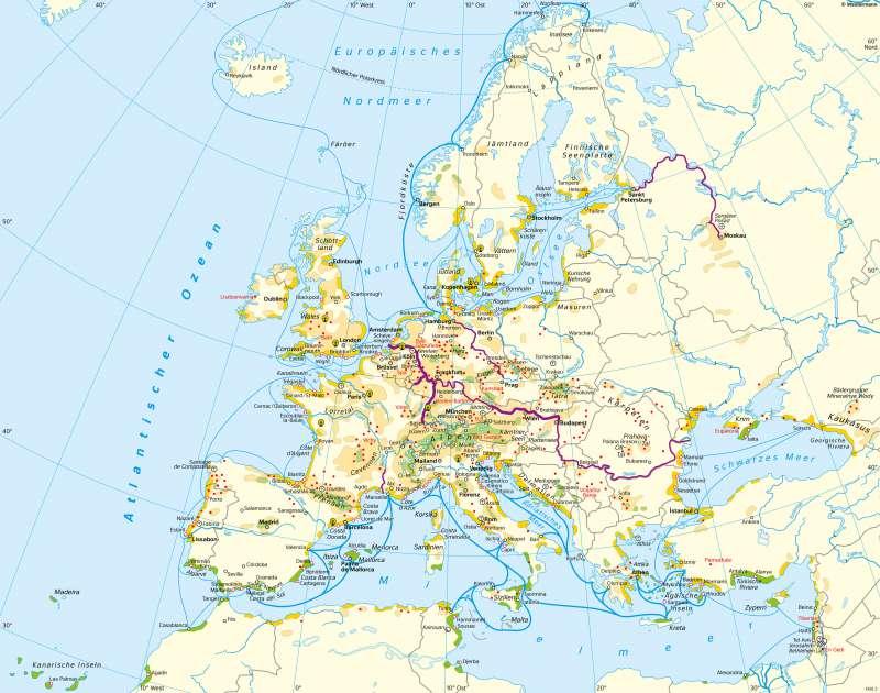 Europa | Tourismus | Europa - Tourismus | Karte 84/1