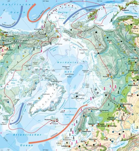 Nordpolargebiet (Arktis) | Naturraum | Polargebiete | Karte 164/1