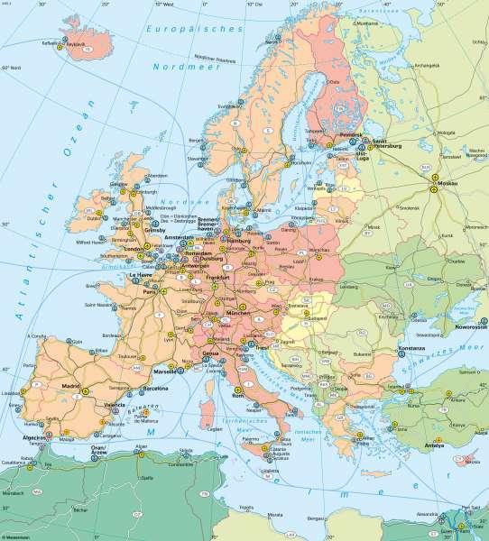 Europa | Verkehr und Transport | Europa - Verkehr und Energie | Karte 88/1