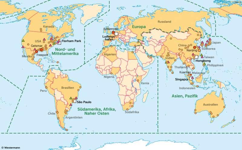   BASF– Global Player der Chemieindustrie   Räume im Wandel   Karte 25/4
