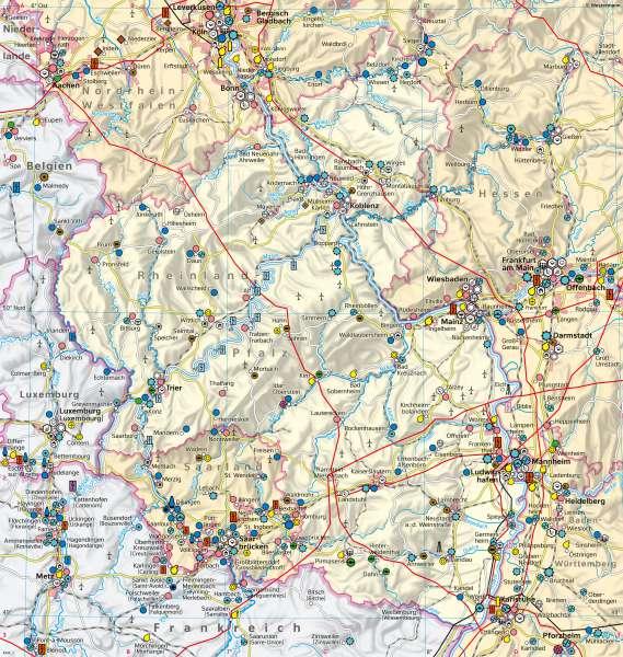 Rheinland-Pfalz | Wirtschaft undVerkehr | Rheinland-Pfalz - Wirtschaft und Verkehr | Karte 22/1
