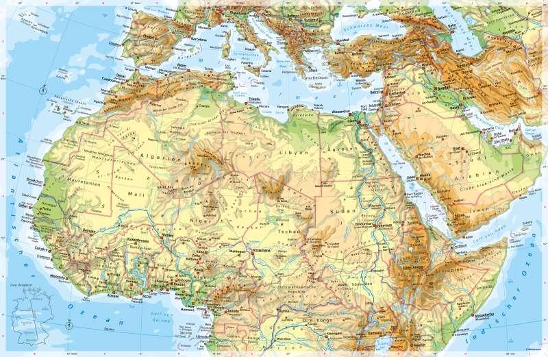 NördlichesAfrika | PhysischeKarte | NördlichesAfrika - PhysischeKarte | Karte 130/1