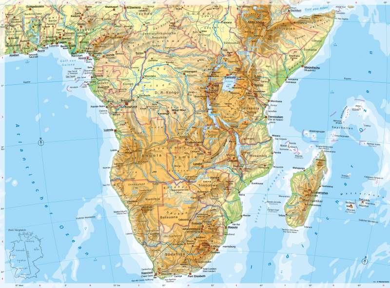 SüdlichesAfrika | PhysischeKarte | SüdlichesAfrika - PhysischeKarte | Karte 132/1