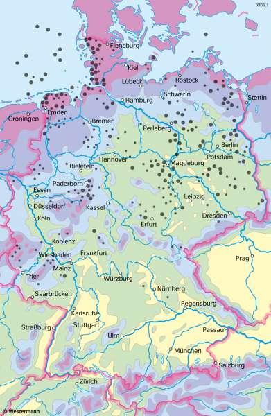 Deutschland | Erneuerbare Energie aus Wind | Deutschland - Energie | Karte 45/3