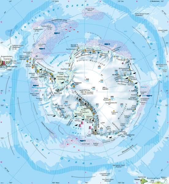 Südpolargebiet (Antarktis) | Naturraum | Polargebiete | Karte 165/2