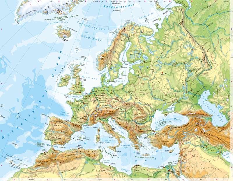 Europa | PhysischeÜbersicht | Europa - Orientierung | Karte 58/2