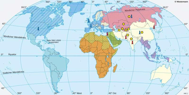 Erde | Politische und militärische Bündnisse | Geschichte - Die Vereinten Nationen | Karte 223/3