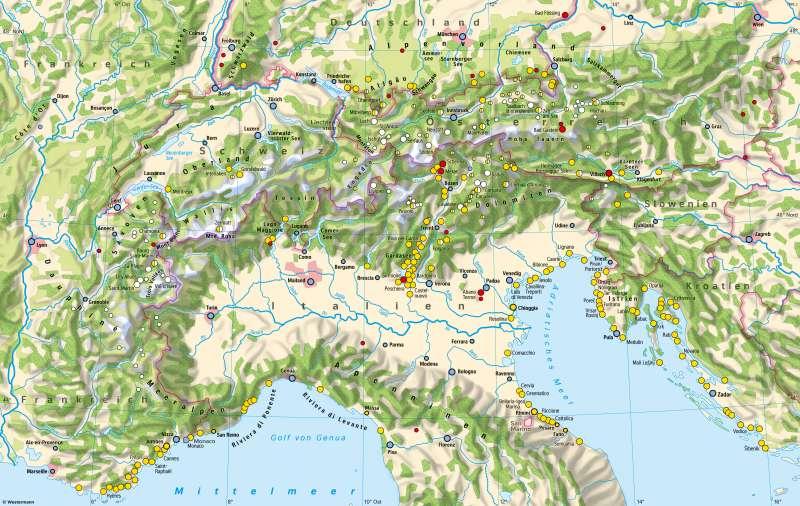 Alpen | Sommer- und Wintertourismus | Alpen - Tourismus und Umwelt | Karte 54/1