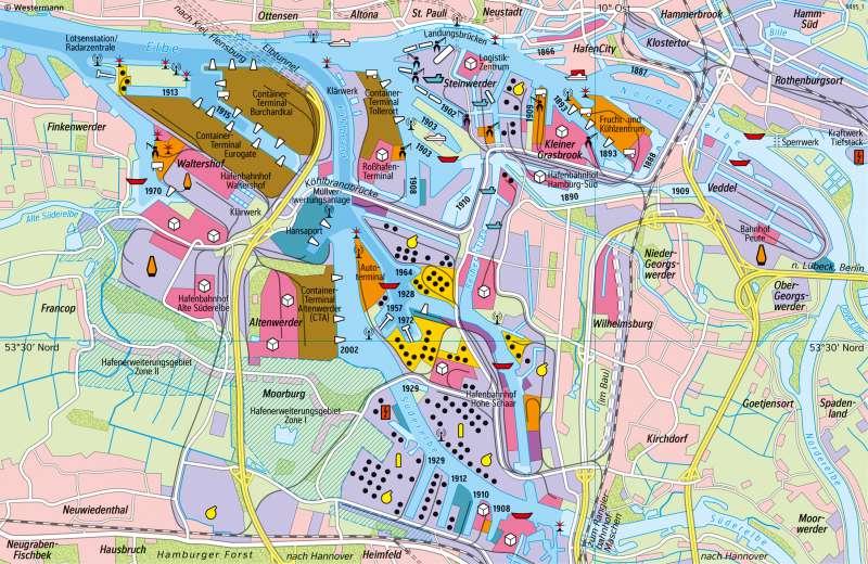 Hamburg | Hafen | Deutschland - Verkehr | Karte 47/2