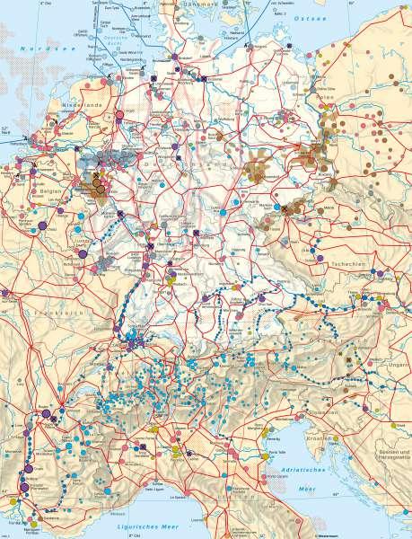 Deutschland und seineNachbarländer | Energiewirtschaft | Deutschland - Energie | Karte 44/1