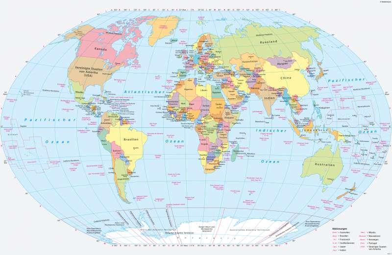 Erde | Politische Übersicht | Erde - Politische Übersicht | Karte 242/1
