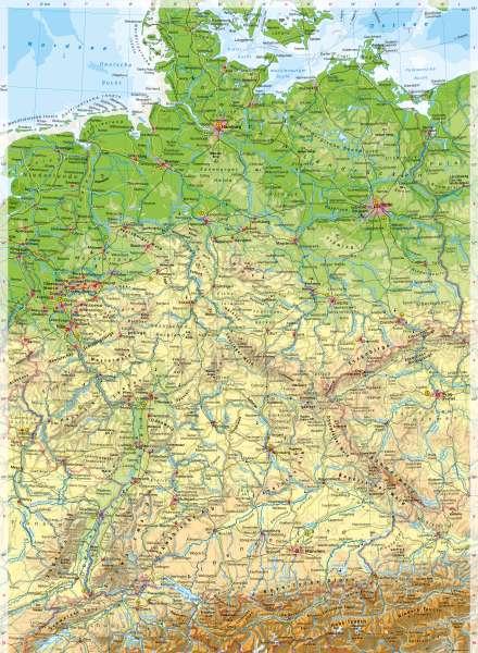 Deutschland | PhysischeKarte | Deutschland - PhysischeKarte | Karte 34/1