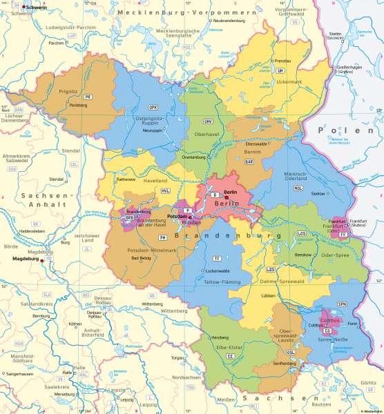 politische karte brandenburg Diercke Weltatlas   Kartenansicht   Brandenburg   Politische
