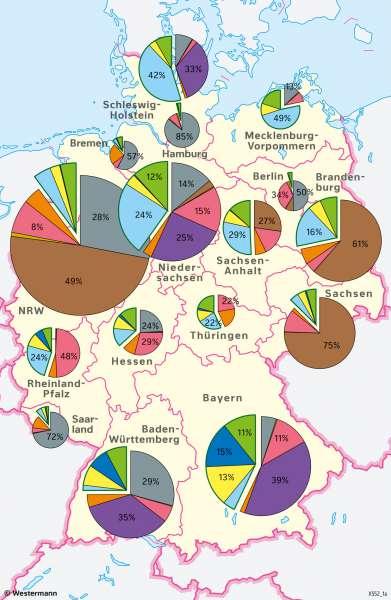 Deutschland | Stromerzeugung | Deutschland - Energie | Karte 45/4