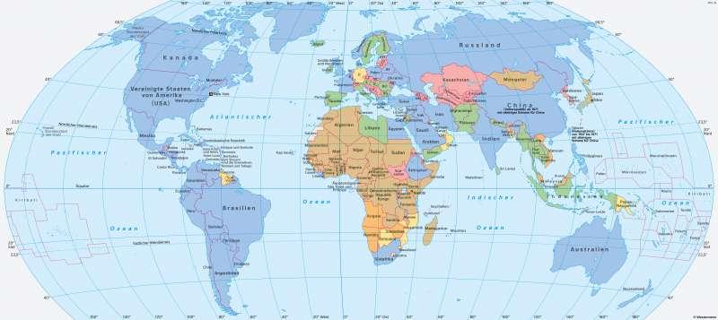 | Die Mitgliedsstaaten der Vereinten Nationen (VN)/United Nations (UN) | Geschichte - Die Vereinten Nationen | Karte 222/1