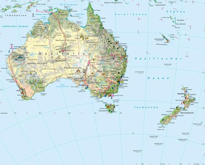 Australien und Neuseeland | Wirtschaft | Australien und Neuseeland - Wirtschaft und Naturraum | Karte 138/1