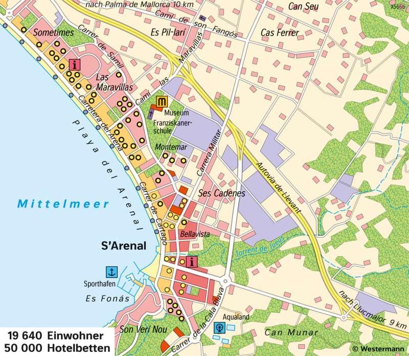 S'Arenal (Mallorca) | Badetourismus | Europa - Tourismus | Karte 85/3