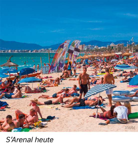 | S'Arenal heute | Europa - Tourismus | Karte 85/3