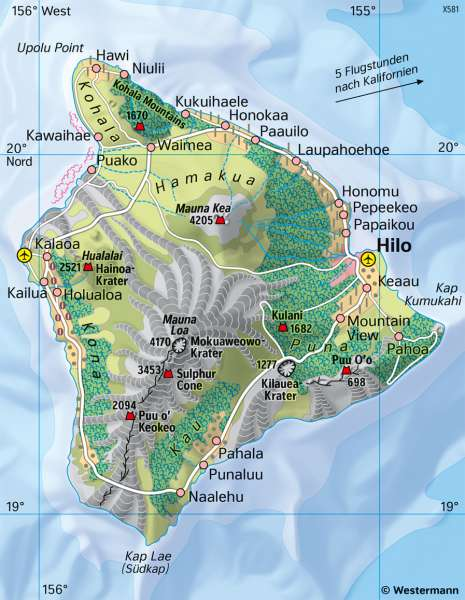 Hawaii | Vulkaninsel | Australien/Ozeanien - Orientierung | Karte 137/3