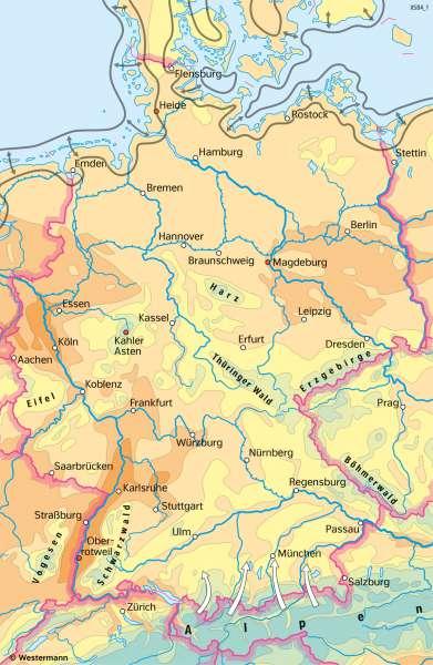 Deutschland | TemperaturenimJahr | Deutschland - Klima | Karte 39/2
