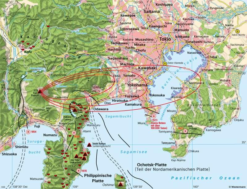 Tokio | Gefährdete Weltstadt am Fuji | Japan - Naturrisiken und Wirtschaft | Karte 112/2