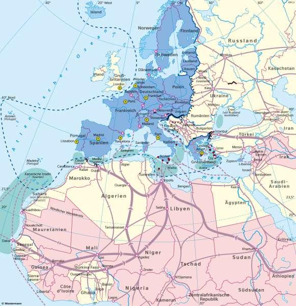 Europa | Migration | Europa - Bevölkerung | Karte 91/4