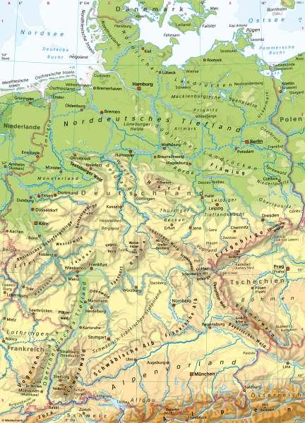 Deutschland | PhysischeÜbersicht | Deutschland - Orientierung | Karte 32/1