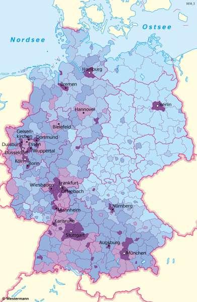 Deutschland | AusländischeBevölkerung | Deutschland - Bevölkerung | Karte 49/5