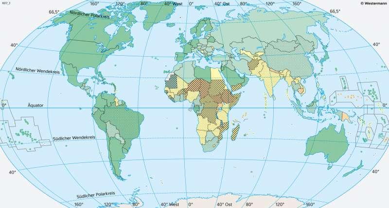 Erde | Verstädterung | Erde - Bevölkerung | Karte 179/4