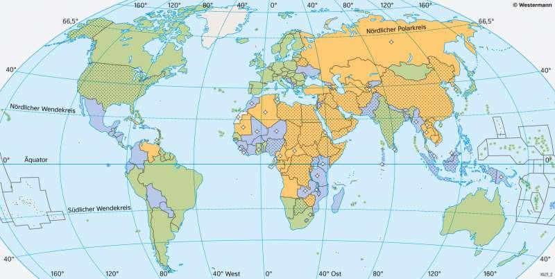Erde | Menschenrechte | Geschichte - Die Vereinten Nationen | Karte 222/2