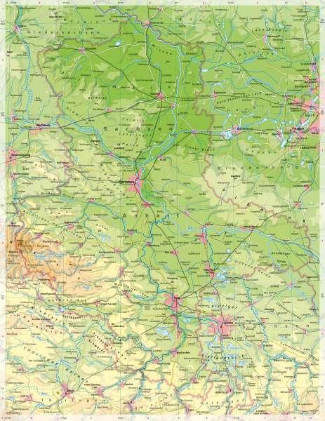 Sachsen-Anhalt | PhysischeKarte | Sachsen-Anhalt - PhysischeKarte | Karte 14/1
