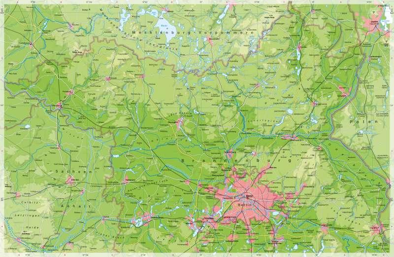 Diercke Weltatlas Kartenansicht Brandenburg Nordlicher Teil