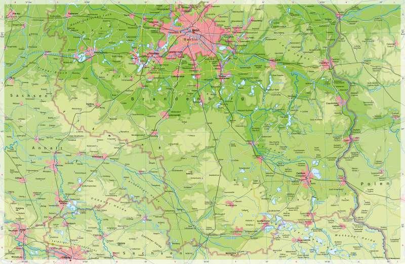 politische karte brandenburg Diercke Weltatlas   Kartenansicht   Brandenburg (südlicher Teil