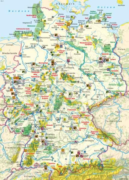 Deutschland | Tourismus | Deutschland - Tourismus und Naturschutz | Karte 52/1