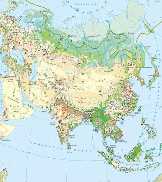 Asien | Landwirtschaft | Asien - Landwirtschaft und Landschaftswandel | Karte 102/1