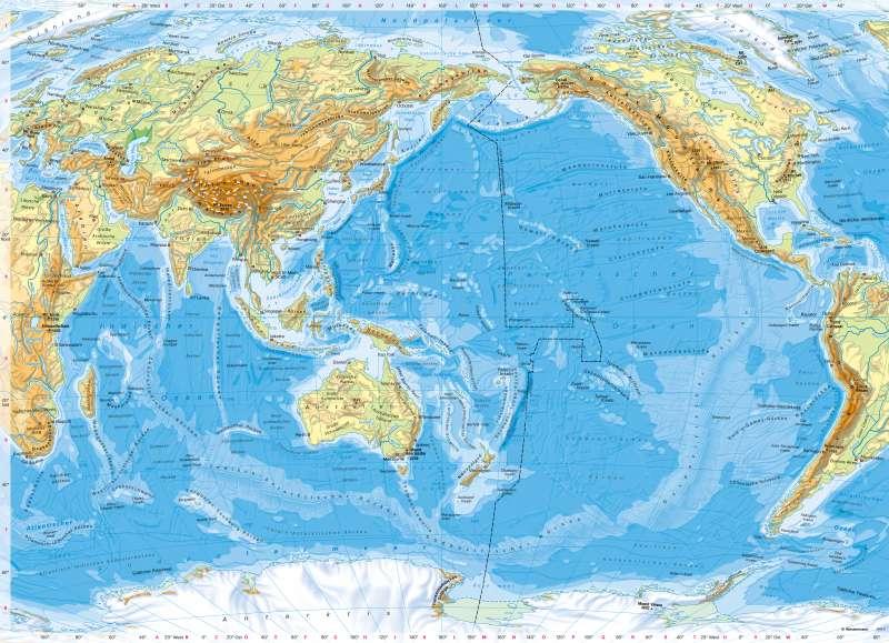 IndischerOzean und PazifischerOzean | PhysischeÜbersicht | IndischerOzean und PazifischerOzean - PhysischeÜbersicht | Karte 134/1
