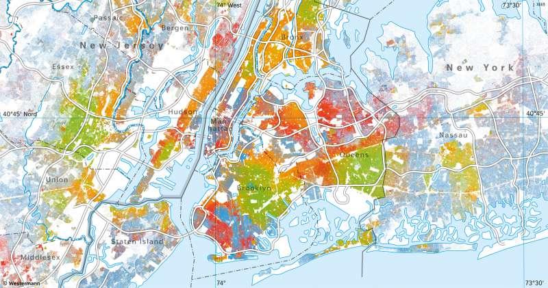 Metropolregion NewYork | Bevölkerungsgruppen | Vereinigte Staaten von Amerika (USA) - Städte | Karte 149/4