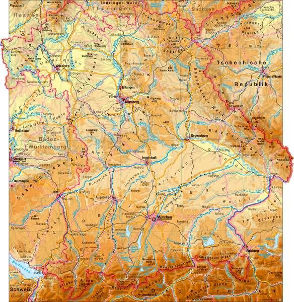 Landschaften (physische Übersicht) |  | Landschaften (physische Übersicht) | Karte 3/1