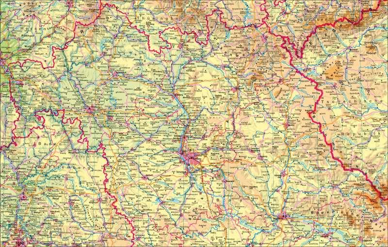 Bayern physisch | nördlicher Teil | Bayern physisch - nördlicher Teil | Karte 4/1