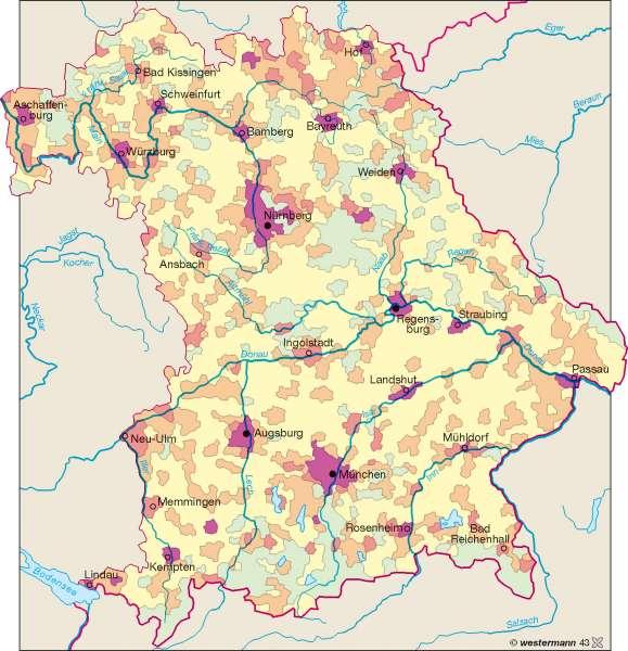 Bevölkerungsdichte 1950 |  | Bevölkerungsdichte | Karte 11/1