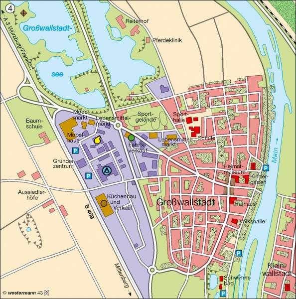 Großwallstadt   Strukturwandel 2005   Bevölkerungsdichte   Karte 11/4