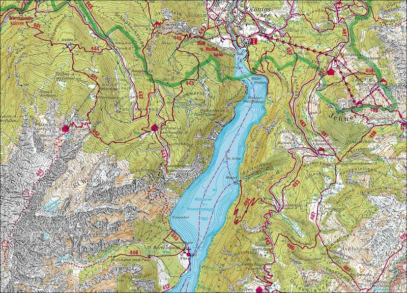 Nationalpark Berchtesgaden      Tourismus   Karte 13/1