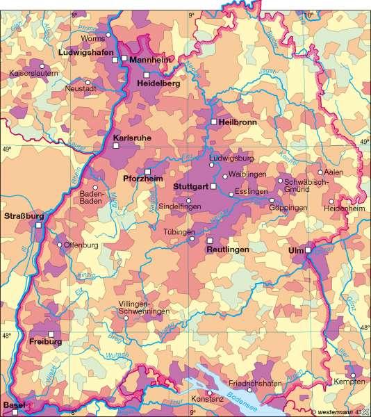 Bevölkerungsdichte 2007 |  | Bevölkerungsdichte | Karte 11/2