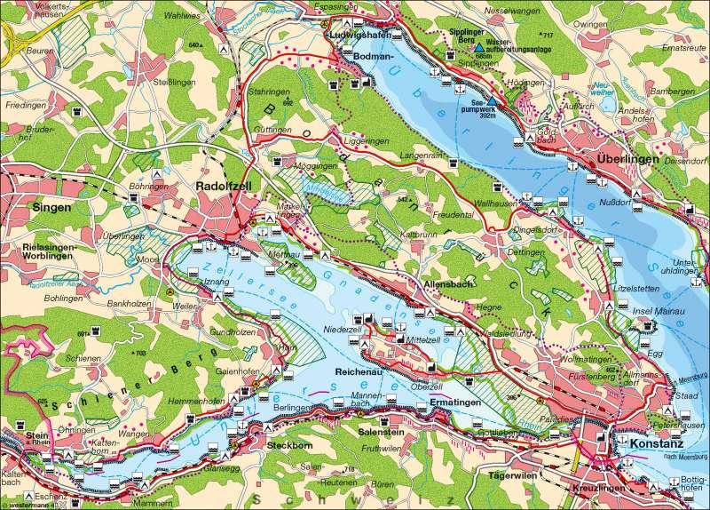 Bodensee | Erholung und Naturschutz | Tourismus | Karte 12/2