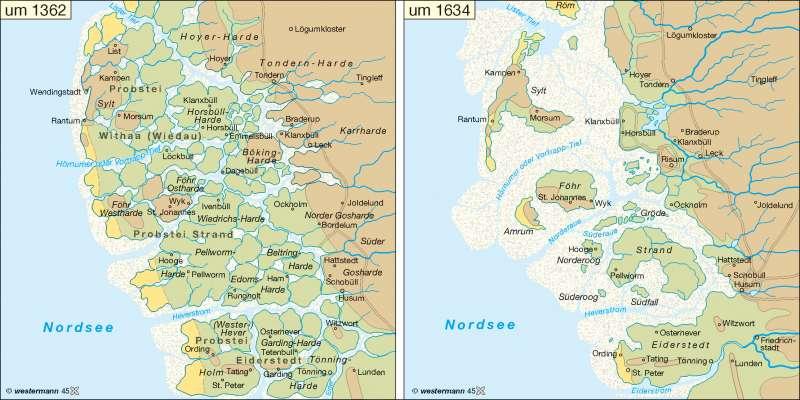 Nordfriesische Inseln Karte.Diercke Weltatlas Kartenansicht Nordfriesische Kuste