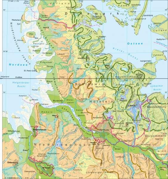 Karte Norddeutschland Ostsee.Diercke Weltatlas Kartenansicht Nordische Vereisungen
